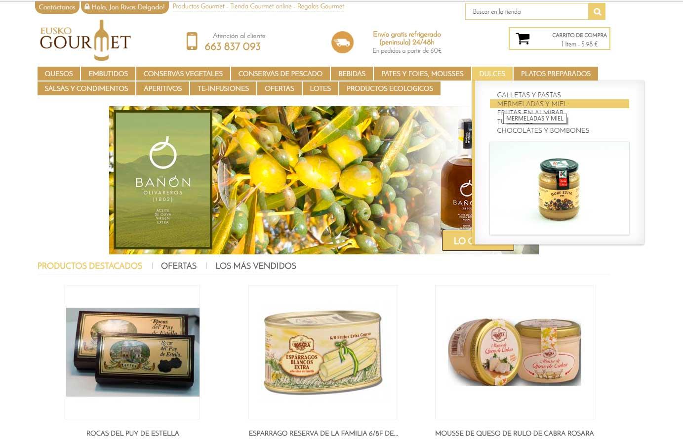 Euskogourmet tienda gourmet online